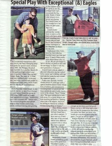 The Advocate wrote a store on Exceptional Georgetown Alliance's Challenger Baseball!